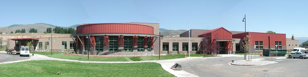 June Creek Elementary - entrance.
