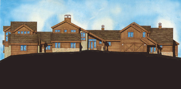 These luxurious townhomes have panoramic views from Vail's Game Creek bowl to the Sawatch Range including the Beaver Creek, Bachelor Gulch, and Arrowhead Ski areas. Each unit is approximatly 3,000-4,000 s.f.