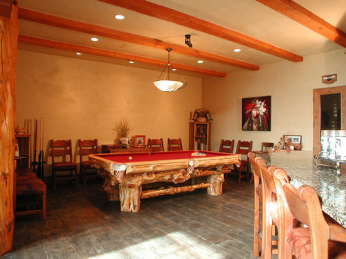 Pool table with Wine Room to right/Main Level