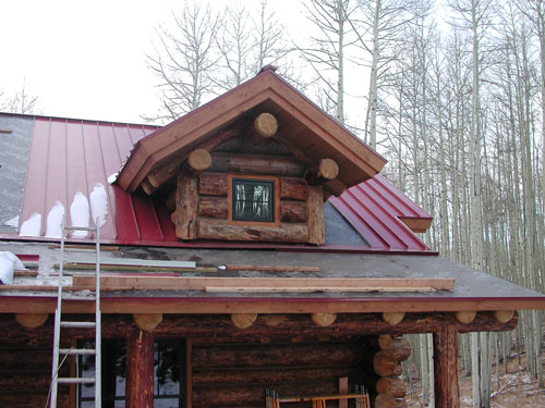 Cabin is under construction
